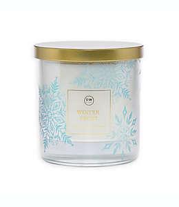 Vela en tarro DW Home Winter Frost™ en blanco, 255.14 g (9 oz)