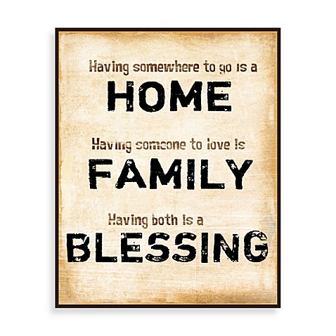 Home family blessings wall art bed bath beyond Bless home furniture outlet