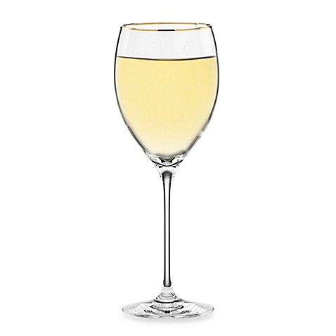 Lenox timeless gold signature wine glass bed bath beyond - Lenox gold rimmed wine glasses ...