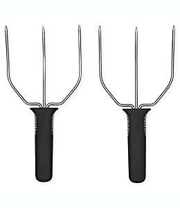 Trinches para pavo de  Good Grips® OXO color plata y negro, Set de 2 pzas.