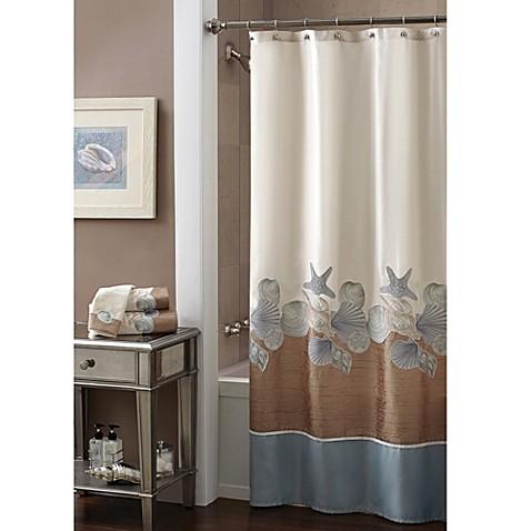 Croscill 174 Shells Ashore 70 Inch X 72 Inch Shower Curtain
