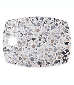 Tabla para queso Artisanal Kitchen Supply® de terrazzo en blanco/gris