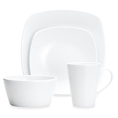 Noritake® White on White Snow 4-Piece Square Place Setting