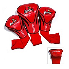 image of University of Louisville 3-Pack Contour Golf Club Headcovers