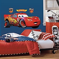 image of RoomMates Disney® Pixar Cars Lightning McQueen Giant Wall Decal
