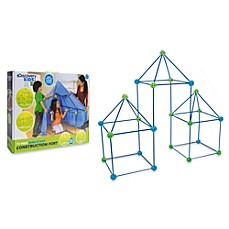 image of Discovery Kids™ 77-Piece Build and Play Construction Fort Set
