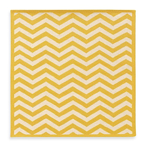 linon home silhouette chevron rugs in yellow white bed bath beyond. Black Bedroom Furniture Sets. Home Design Ideas