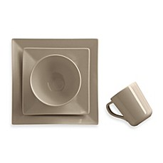 image of Real Simple® Square Dinnerware Collection in Taupe