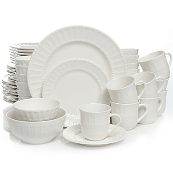 image of Gibson Home Heritage Place 48-Piece Dinnerware Set  sc 1 st  Bed Bath \u0026 Beyond & White Dinnerware Porcelain Dinnerware Sets - Bed Bath \u0026 Beyond