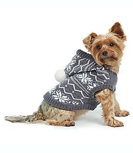 Chaleco con capucha para perro Bee & Willow™ Home Fair Isle talla mediana en gris