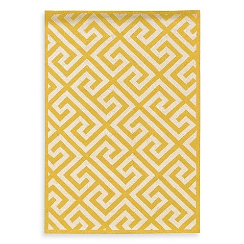 Linon Home Greek Key Rug In Yellow White Bed Bath Beyond