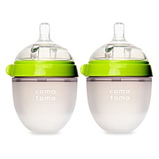 image of Comotomo™ 5-Ounce Baby Bottles in Green (2-Pack)