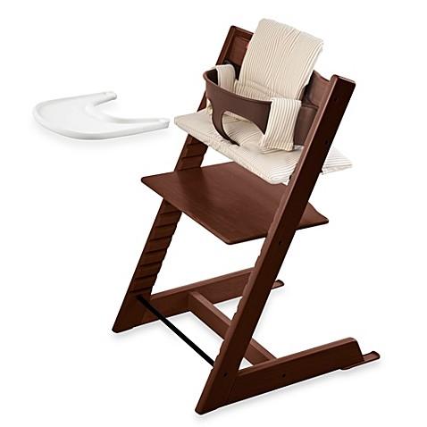stokke tripp trapp high chair complete bundle in walnut bed bath beyond. Black Bedroom Furniture Sets. Home Design Ideas