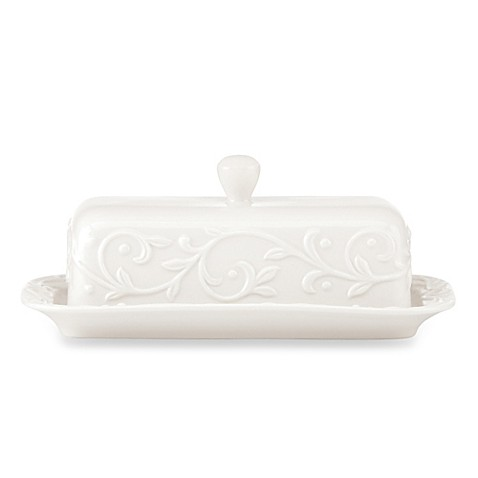 Lenox® Opal Innocence Carved Covered Butter Dish