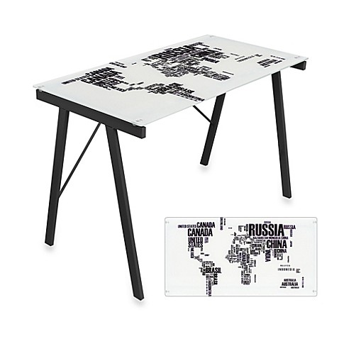Lumisource world map office desk bed bath beyond lumisource world map office desk gumiabroncs Images