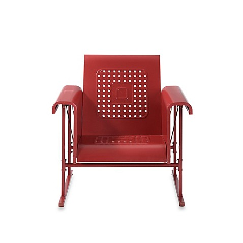 buy crosley retro chair glider in coral red from bed bath
