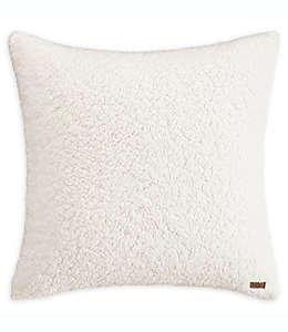 Funda decorativa para cojín euro de tela de borrego UGG® color blanco nieve