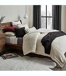 Set de edredón king UGG® Brea reversible en blanco nieve