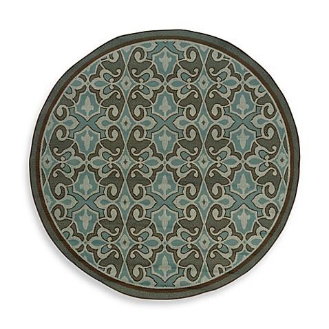 Oriental Weavers Montego Indoor Outdoor Rug In Damask Blue