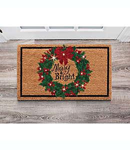 Tapete navideño para exterior con luces LED