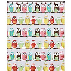 image of owl peva 70inch x 72inch shower curtain