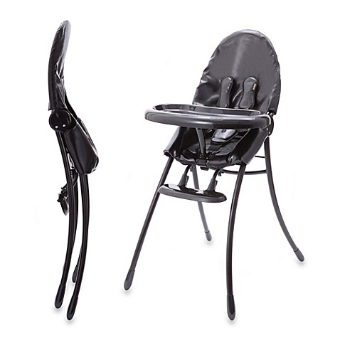 Bloom nano urban high chair in matte black snakeskin for Chaise haute bloom