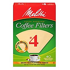 image of Melitta® 40-Count Number 4 Natural Brown Super Premium Coffee Filters
