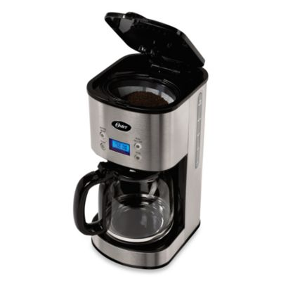 Oster Coffee Maker Set Time : Oster 12-Cup Stainless Steel Programmable Coffee Maker - Bed Bath & Beyond