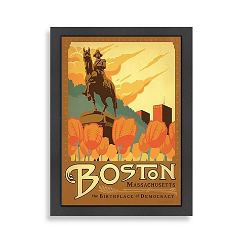 Americanflat Boston Framed Wall Art