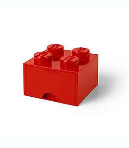 Cajón apilable de plástico LEGO® Brick color rojo