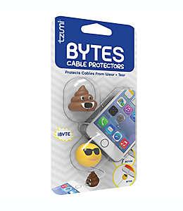 Protectores de cable Tzumi Electronics con forma de emojis
