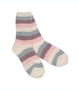 Calcetines para mujer talla Stripe Butter 26-28 en rosa/marfil
