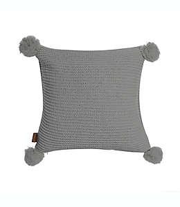 Cojín decorativo cuadrado UGG® Cameron tejido de chenilla en gris foca