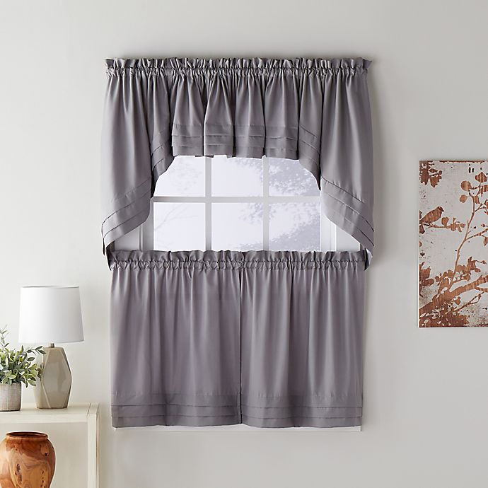 Skl Home Holden Swag Window Valance In Dove Grey Bed Bath Beyond