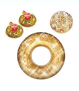 Set fiesta en la alberca PoolCandy en oro, 4 piezas