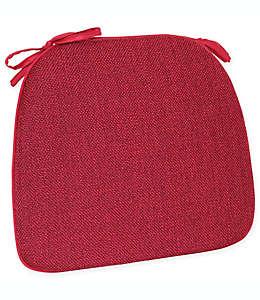 Cojín para silla de poliéster Mayfair® color rojo