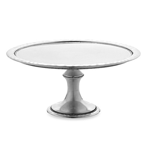Reed and Barton Heritage Collection Banded Bead Large Cake Stand