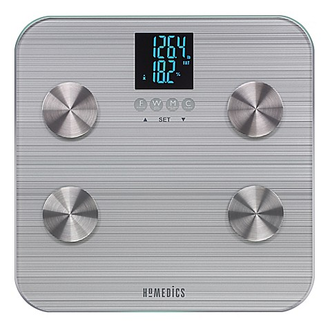 image of HoMedics  531 HealthStation  Body Fat Bathroom Scale. Bathroom Scales   Regular  Digital   Glass   BedBathandBeyond com
