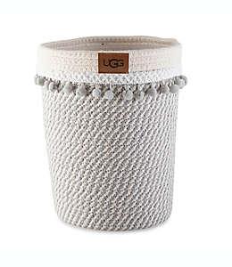 Bote de basura Paloma Palm UGG® en blanco nieve/gris