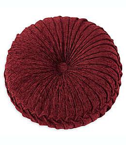 Cojín decorativo redondo J. Queen New York Taormina de 38.1 cm en rojo