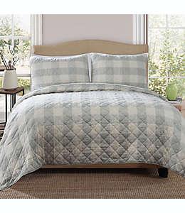 Set de colcha individual Bee & Willow™ Home reversible con diseño a cuadros en azul spa