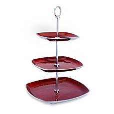 image of Simplydesignz Bodoni 3-Tier Server in Ruby Red