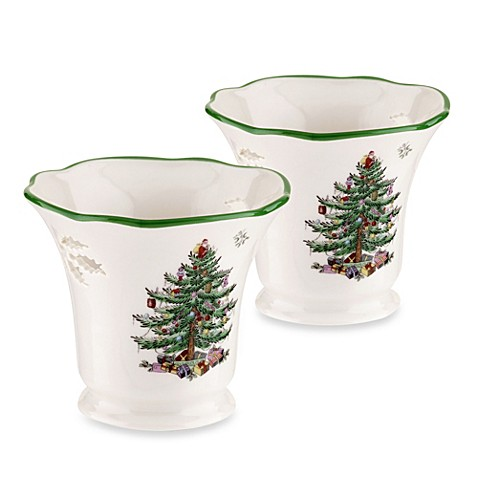 Buy Spode Christmas Tree Tealight Holders Set Of 2 From Bed Bath Beyond