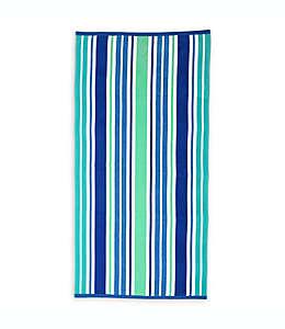 Toalla de playa Destination Summer Sunny Isles de algodón turco con diseño a rayas en azul
