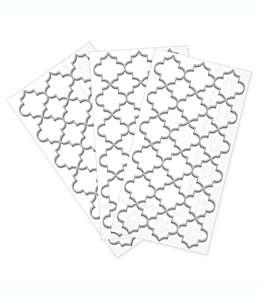 Toallas desechables de papel con diseño de enrejado marroquí en plata, 32 piezas