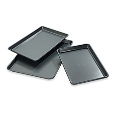image of Chicago Metallic™ Professional Jelly Roll Pans with Armor-Glide Coating (Set of 3)