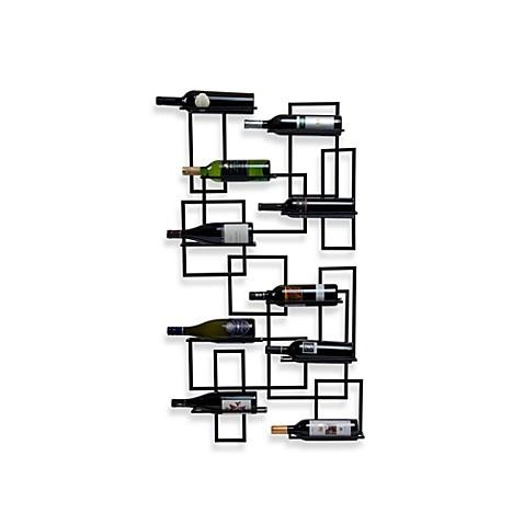 mid century wall mount 10 bottle wine rack bed bath beyond
