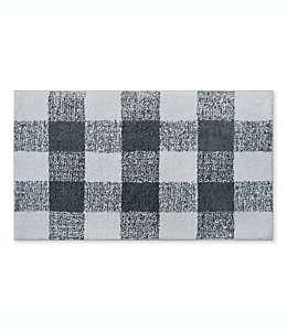 Tapete para baño Bee & Willow™ Home Cable de 53.34 x 86.36 cm en gris y blanco