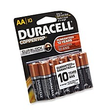 image of Duracell® Coppertop 10-Pack AA Batteries