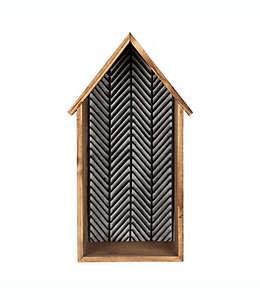Repisa de madera Bee & Willow™ Home con detalles galvanizados